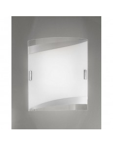 Square applique plafoniera argento 47cm in offerta