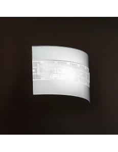 ANTEALUCE: Applique in vetro curvo vintage 32cm in offerta
