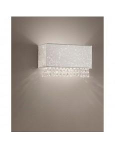 Applique Spark in tessuto glitterato con cristalli perimetrali Antea Luce