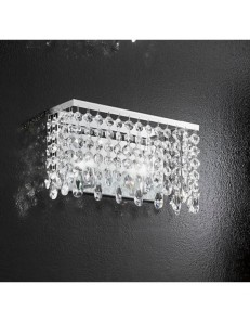 ANTEALUCE: Fair applique con pendenti in cristallo 30cm in offerta
