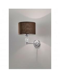 ANTEALUCE: Royal lampada da parete marrone moka in offerta
