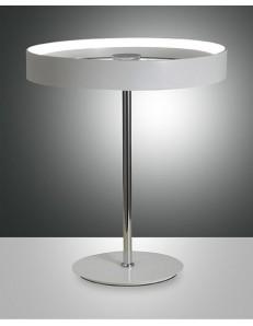 DOUBLE LAMPADA TAVOLO LED 22W BIANCA ANELLO FABAS STUDIO UFFICIO CAMERA