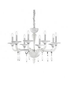 Miramare sp8 Lampadario in vetro trasparente bianco ideal lux 8 luci