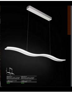 SOSPENSIONE LED RETTANGOLARE 50 W BIANCO 3800 LUMEN LUCE CALDA SOGGIORNO CUCINA 6364 B LN
