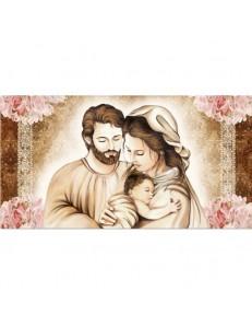 ARGENTI PREZIOSI: Capezzale contemporaneo famiglia stampa su pelle ritocco con cristalli e glitter