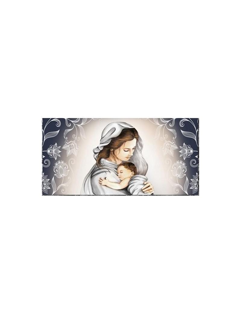 Capezzale contemporaneo maternita\' stampa su pelle ritocco con cristalli e  glitter 70x40cm