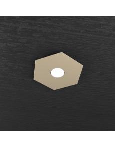 Hexagon plafoniera LED 1 luce colore sabbia 25x29cm
