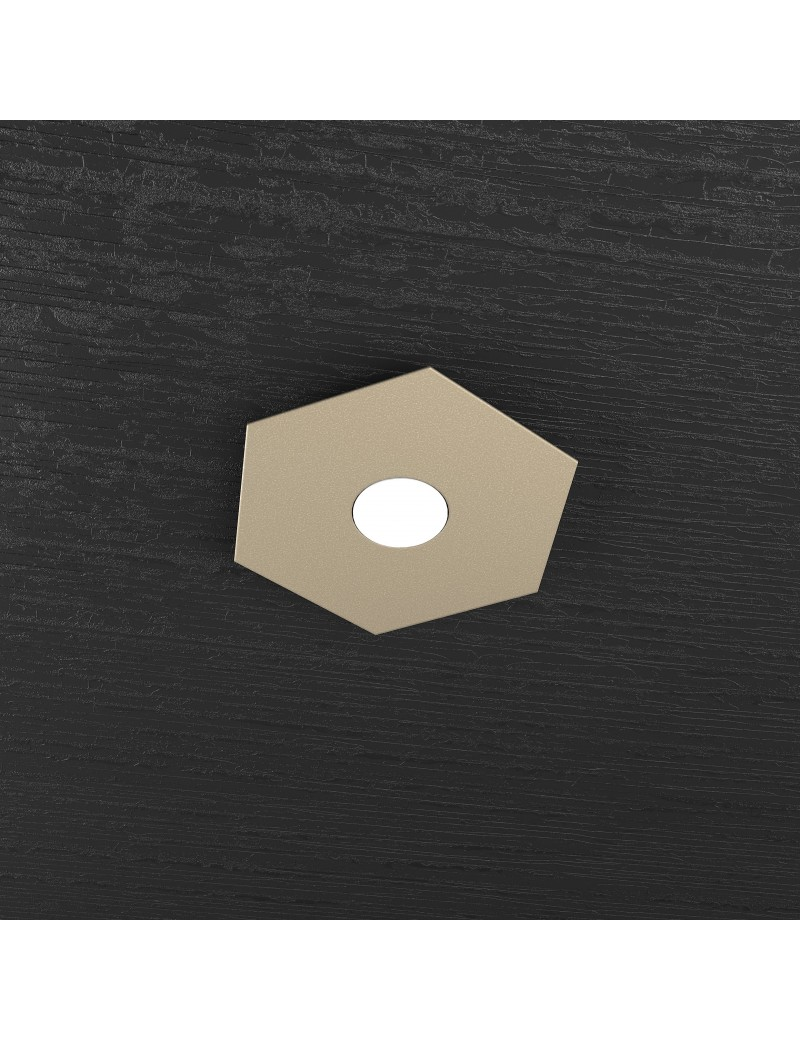 TOP LIGHT: Hexagon plafoniera LED 1 luce colore sabbia 25x29cm in offerta