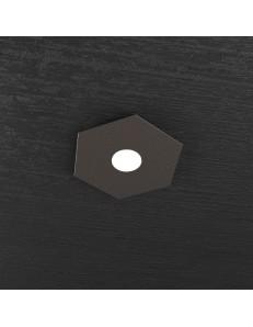 TOP LIGHT: Hexagon plafoniera LED 1 luce marrone 25x29cm in offerta