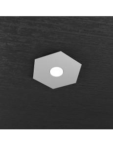 TOP LIGHT: Hexagon plafoniera LED 1 luce grigio 25x29cm in offerta