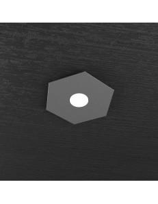 TOP LIGHT: Hexagon plafoniera led 1 luce antracite 25x29cm in offerta