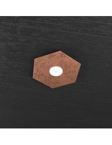 TOP LIGHT: Hexagon plafoniera led 1 luce foglia rame bagno 25x29cm in offerta