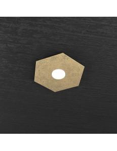TOP LIGHT: Hexagon plafoniera LED 1 luce foglia oro ingresso corridoio 25x29cm in offerta