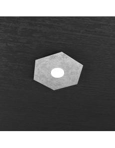 TOP LIGHT: Hexgon plafoniera LED 1 luce foglia argento metallo 25x29cm in offerta