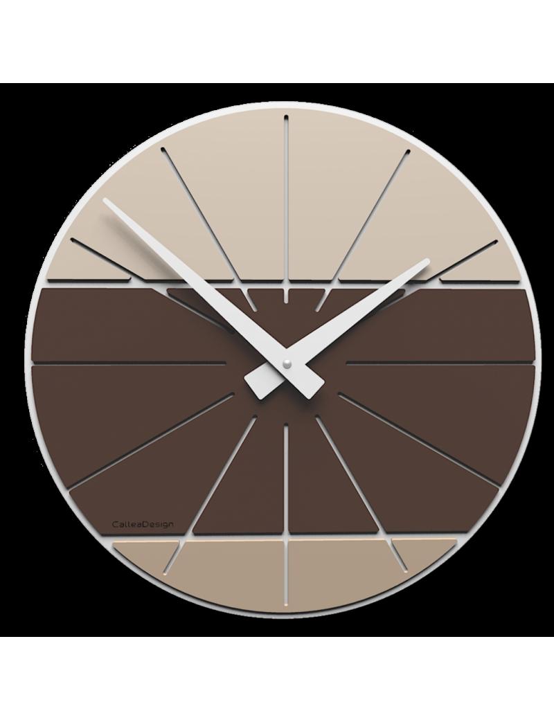 Benja-cub orologio da parete moderno in legno cioccolato 35cm