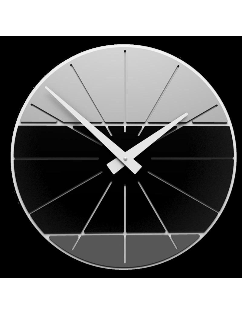 Orologio da parete moderno diametro 35 nero in legno for Orologi parete moderni