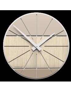Benja-cub orologio da parete in legno rovere decape' 35cm