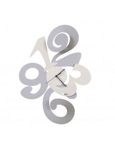 ARTI & MESTIERI: Balgor orologio da parete moderno alluminio e bianco in offerta