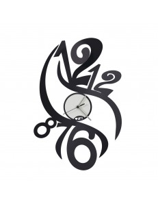 Arti e Mestieri: Fenice orologio parete stilizzato nero in