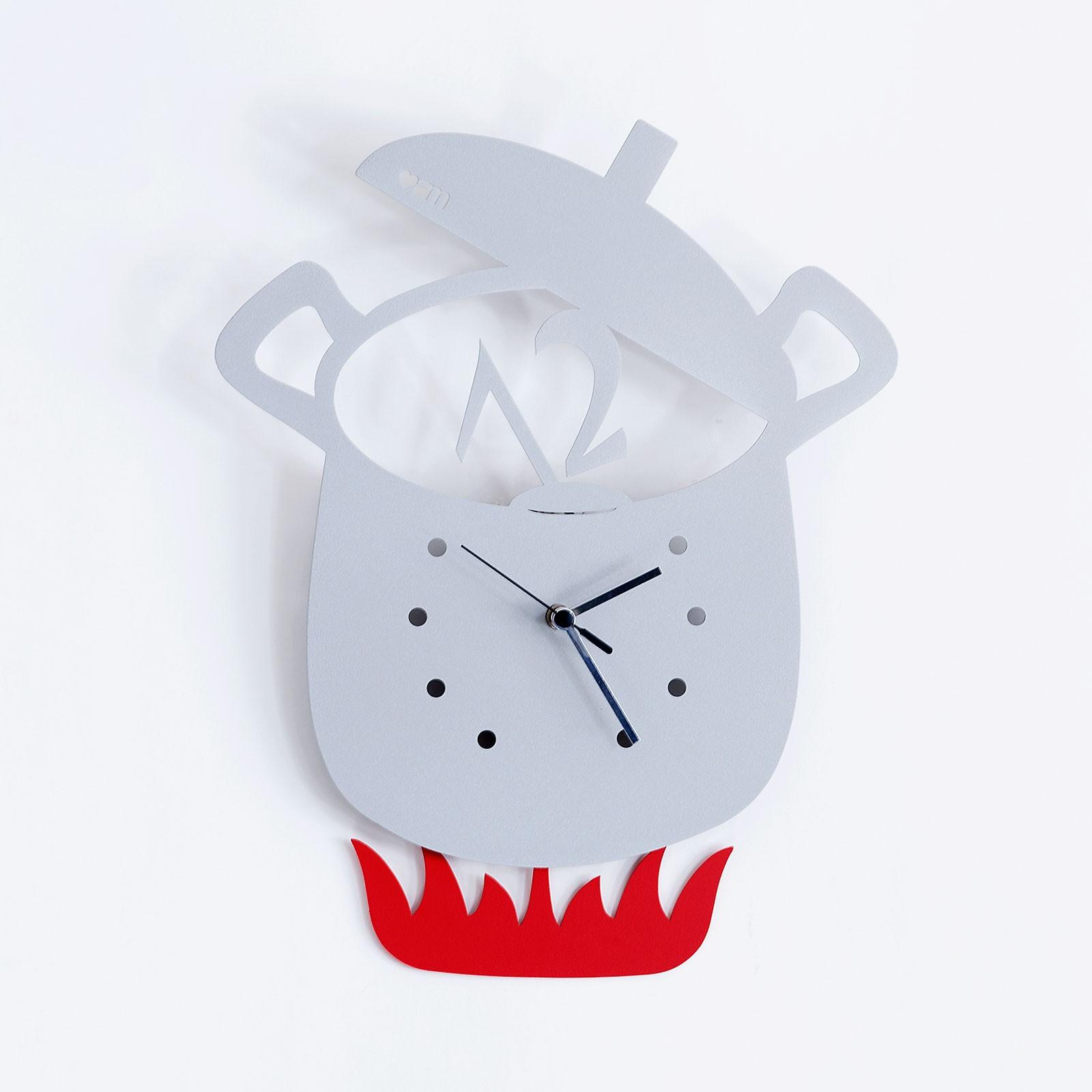 Orologio a pendolo da parete Pentola alluminio MODERNO cucina DESIGN ...