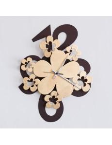 ARTI & MESTIERI: Margie orologio parete moderno marrone oro design fiori in offerta