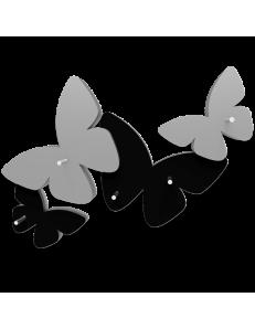 CALLEADESIGN: Portachiavi da parete moderno design farfalle legno nero grigio in offerta