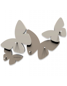CALLEADESIGN: Portachiavi da parete magnetico design farfalle legno tortora in offerta