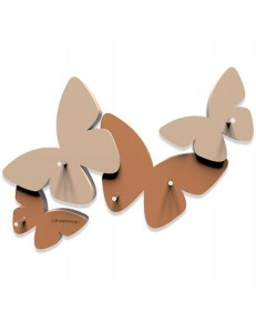 CALLEADESIGN: Appendichiavi da parete magnetico design farfalle legno abbronzato in offerta