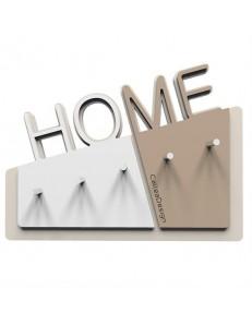 CALLEADESIGN: Home appendichiavi da parete magnetico moderno legno color caffelatte in offerta