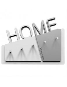 CALLEADESIGN: Appendichiavi moderno per ingresso da parete magnetico legno bianco alluminio in