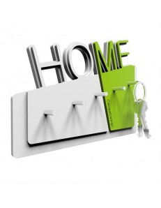 CALLEADESIGN: Home appendichiavi moderno da parete magnetico legno verde mela in offerta