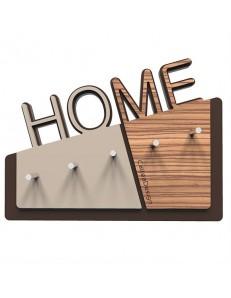 CALLEADESIGN: Home appendichiavi da parete magnetico moderno legno color zingana in offerta