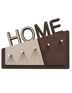 CALLEADESIGN: Appendichiavi da parete magnetico moderno legno rovere e wenge' per ingresso in
