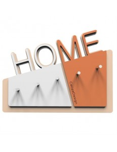 CALLEADESIGN: Home appendichiavi da parete magnetico moderno legno color terracotta in offerta
