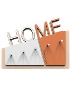 CALLEADESIGN: Home appendichiavi da parete moderno magnetico legno colore terracotta in offerta