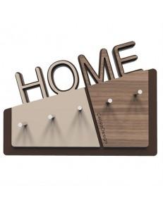 CALLEADESIGN: Home appendichiavi da parete magnetico moderno legno color noce canaletto in offerta