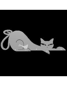 CALLEADESIGN: Appendichiavi da parete magnetico design gatto legno colore alluminio in offerta