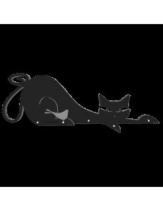 CALLEADESIGN: Appendichiavi da parete moderno magnetico design gatto legno nero in offerta