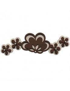 CALLEADESIGN: Appendichiavi da parete moderno magnetico legno colore cioccolato in offerta