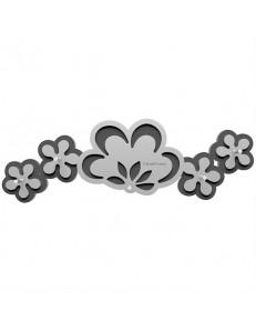 CALLEADESIGN: Appendichiavi da parete moderno magnetico legno colore alluminio antracite in offerta