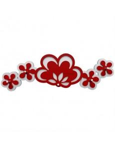 CALLEADESIGN: Appendichiavi da parete moderno legno rosso rubino grigio in offerta