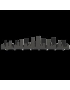 CALLEADESIGN: Skyline grande appendichiavi magnetico da parete moderno legno grigio quarzo in