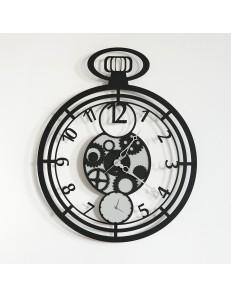 Orologio da parete moderno Cipollone nero ingranaggi DESIGN ARTI & MESTIERI