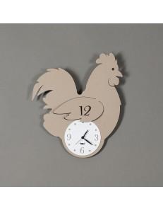 Arti e Mestieri: Gallina orologio per cucina da parete design