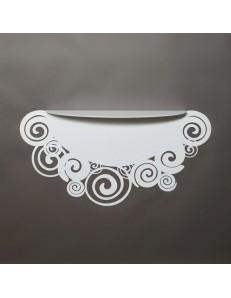 ARTI & MESTIERI: Orfeo consolle da parete per ingresso moderna bianca in offerta