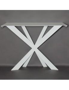 ARTI & MESTIERI: Zeus consolle moderna metallo bianco da ingresso in offerta
