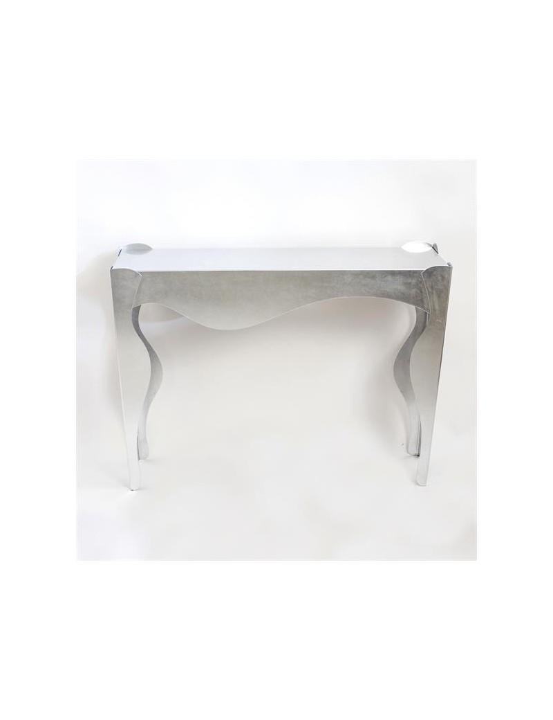 Consolle Ingresso Contemporaneo.Isotta Consolle Foglia Argento Design Contemporaneo