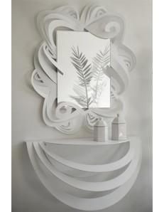 ARTI e MESTIERI: Consolle da ingresso e specchio da parete moderno bianco in offerta