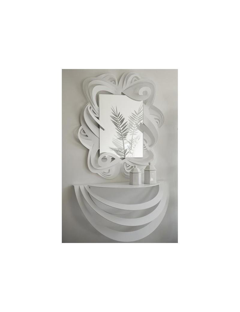 Specchi A Parete Moderni.Consolle Da Ingresso E Specchio Da Parete Moderno Bianco Arti E Mestieri