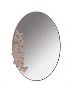 ARTI e MESTIERI: Butterfly specchio da muro design farfalle beige in offerta